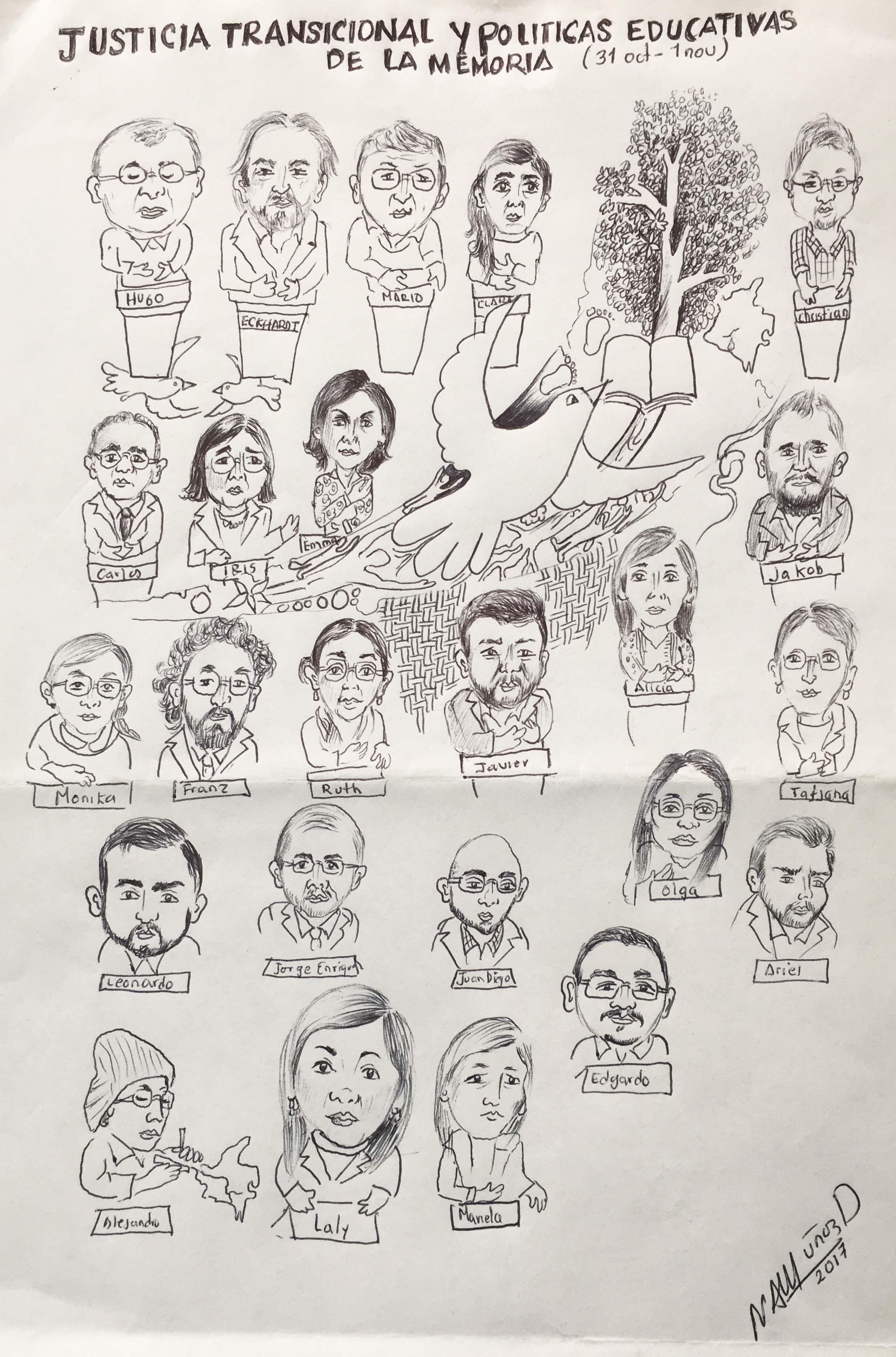 Taller en la Universidad del Rosario en 2017 sobre justicia transicional y políticas educativas de la memoria