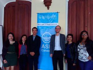 Encuentro con representantes de instituciones universitarias y la organización Abogados Sin Fronteras Canadá (ASF) en Nariño.