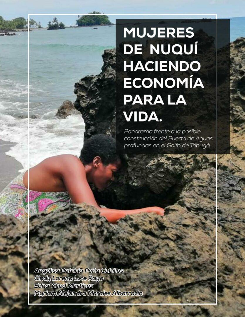 Portada cover cartilla Mujeres de Nuquí haciendo economía para la vida.