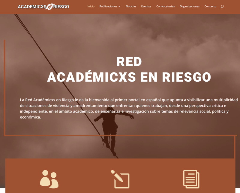 academixsenriesgo homepage página de inicio website