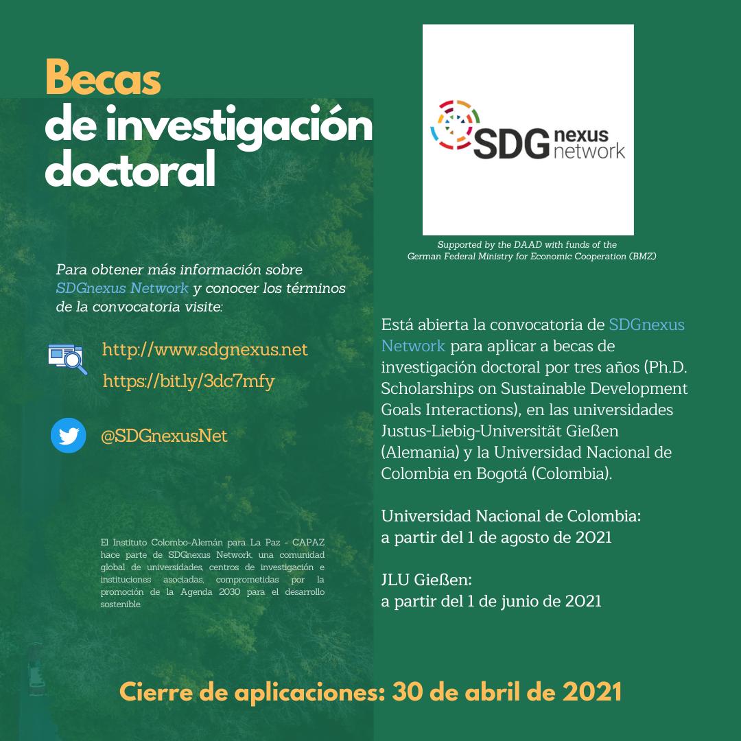 SDG Nexus Network es una red de universidades, centros de investigación e instituciones asociadas que promueve la Agenda 2030 para el desarrollo sostenible y el Instituto CAPAZ hace parte de esta alianza.