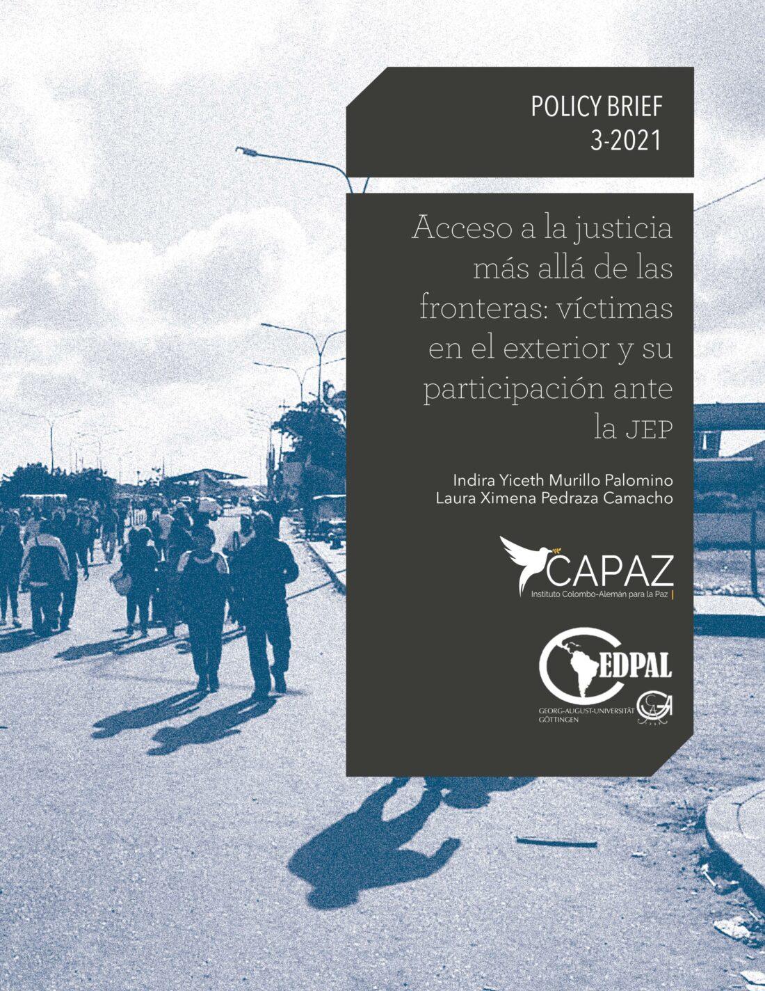 Portada del tercer policy brief o documento de recomendación política de la línea azul editorial del Instituto CAPAZ: