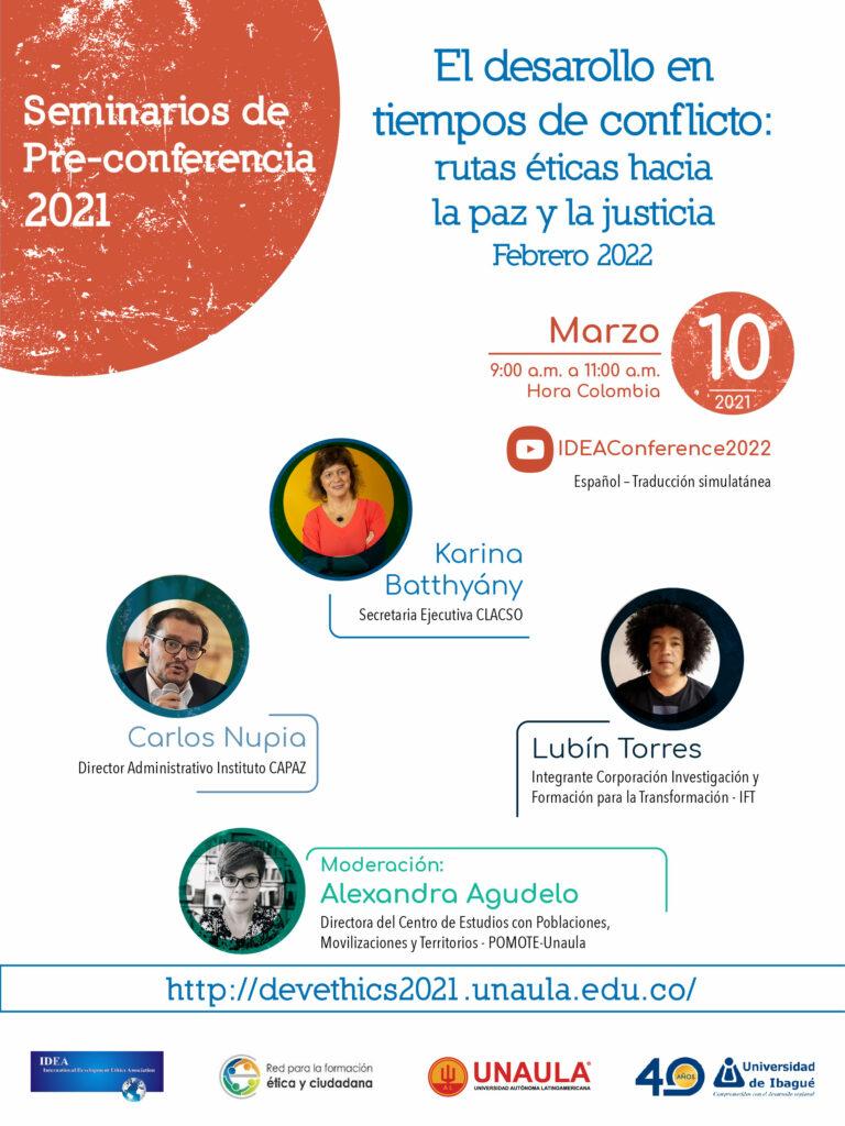 Flyer promocional del evento previo en 2021 al congreso IDEA en Medellín en 2022.