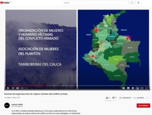 CAPAZ produjo en 2021 un video sobre la asesoría prestada a ONG de mujeres en la presentación de informes ante la JEP.