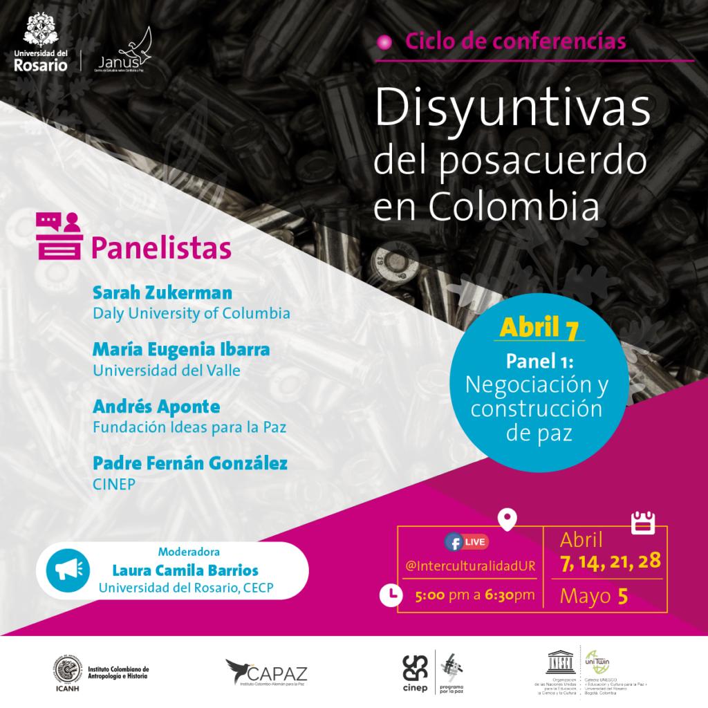 el ciclo de conferencias virtuales es organizado por el grupo JANUS de la Universidad del Rosario con apoyo del Instituto CAPAZ.