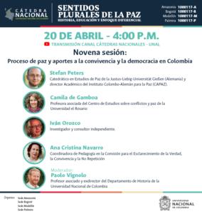 La Cátedra Nacional es organizada por las seccionadles de la UNAL en Medellín, Bogotá, Amazonía y Pereira