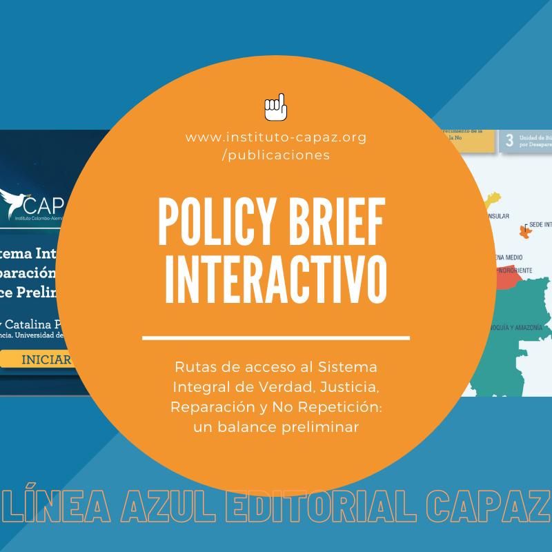 La Línea Azul editorial del Instituto CAPAZ publica recursos sobre la justicia transicional en Colombia.