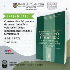 el libro fue editado por la Universidad Santo Tomás en su sede en Villavicencio y al lanzamiento estará invitado el Director de CAPAZ, Stefan Peters.