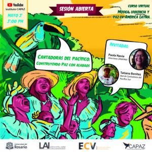 El curso música, violencia y paz en América Latina es uno de los cursos gratuitos de la ECV - Escuela de Cursos Virtuales CAPAZ.