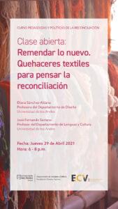 La Universidad de los Andes coordinó el curso sobre reconciliación durante la escuela de cursos virtuales del Instituto CAPAZ