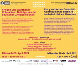 El Nodo Alemania trabaja con organizaciones de la sociedad civil en Alemania para dar a conocer y promover el trabajo de la Comisión y el Informe Final.