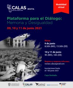 CALAS organiza periodicamente la plataforma para el diálogo.