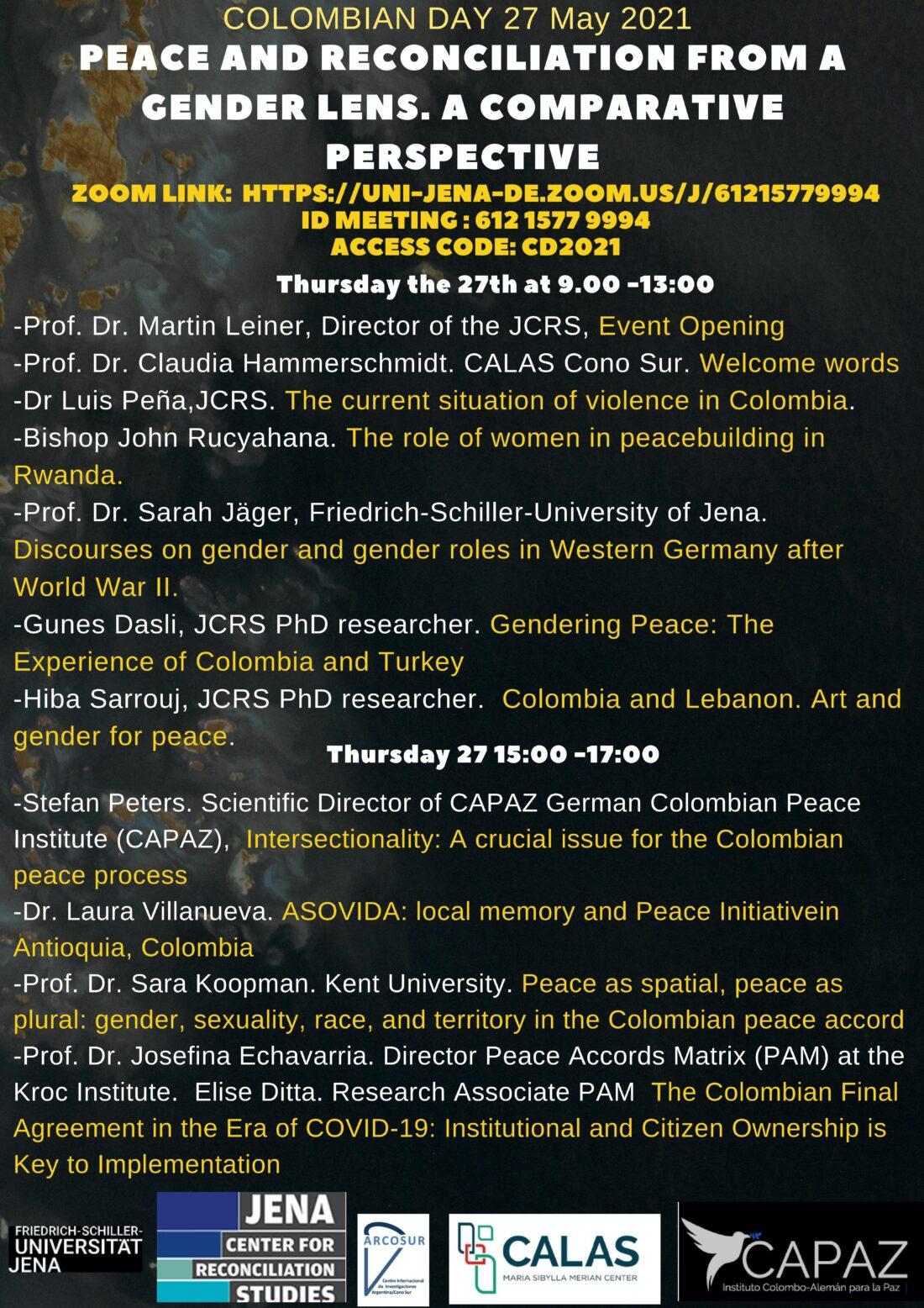 La Universidad de Jena en Alemania realiza cada año las jornadas académicas Día de Colombia.