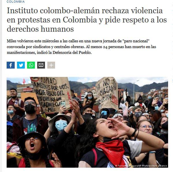 CAPAZ se pronunció en contra de la violación de los derechos humanos durante las protestas en Colombia.
