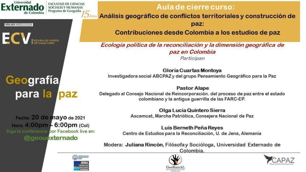 La Universidad Externado de Colombia fue una de las coordinadoras de uno de los cursos gratuitos de la ECV CAPAZ.