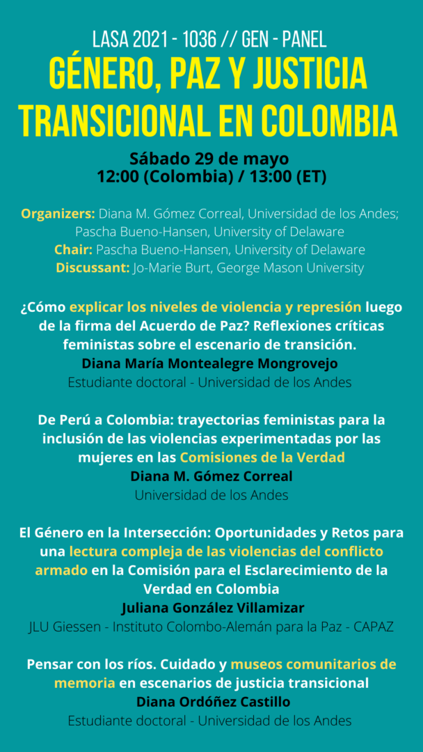 Juliana González del Instituto CAPAZ particiaprá en panel de LASA.